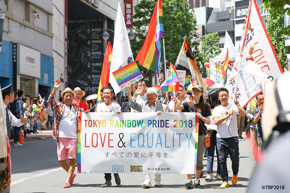 杉山文野さんの活動の様子 TOKYO RAINBOW PRIDE 2018